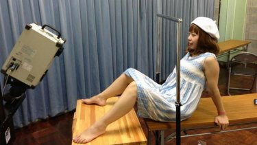 Megumi Igarashi has her genitals scanned for the project.
