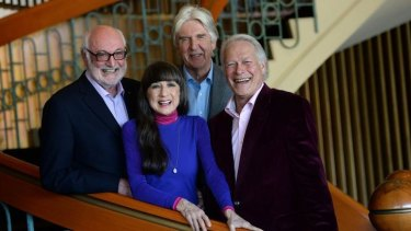 The Seekers celebrated their 50th anniversary tour in 2013. From left, Athol Guy, Judith Durham, Bruce Woodley and Keith Potger.