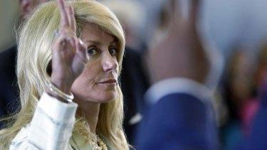 Mammoth filibuster: Wendy Davis.