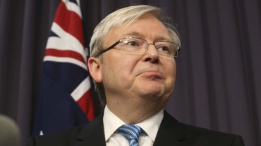 Prime Minister Kevin Rudd. The Coalition has stepped up personal attacks against the PM.