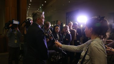 Finance Minister Mathias Cormann explains the decision at Parliament House.