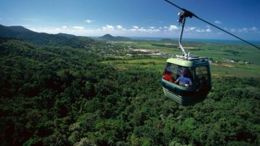 Could the Gold Coast Hinterland skyrail provide a similar tourist attraction to that at Kuranda in north Queensland?