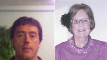 Murder-suicide ... Trent Speering, left, shot his mother, Monica, before killing himself.
