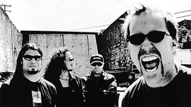 Metal onslaught ... Metallica is one of the bands used to 'piss off' the Taliban.