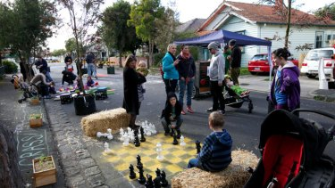 Residents of High Street, Coburg, work to improve and revitalise the look and feel of their suburb by hosting a street party.
