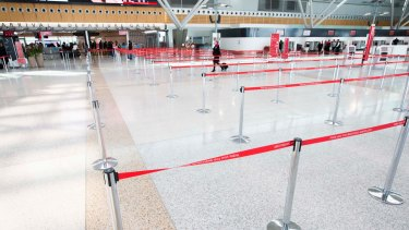 Sydney Domestic Airport: Passengers were told to expect delays but queue lines at Terminal 3 were empty.