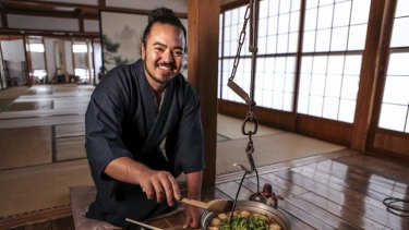 Adam Liaw in <i>Destination flavour: Japan</i>.
