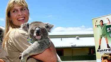 Open for business ... Terri Irwin at Australia Zoo, which has been criticised by the Queensland RSL for remaining open to the public all day on Anzac Day.
