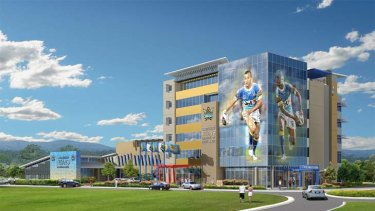 An artist's impression of the Gold Coast Titans Centre Of Excellence.