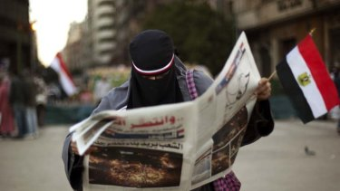 Outrage ... dissatisfaction is growing with Egypt's interim government.