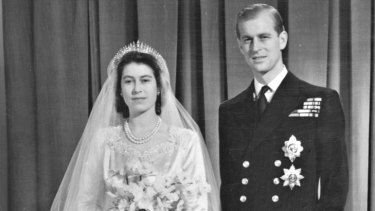 The royal couple,  pictured on their wedding day in 1947, were probably thrilled to receive 500 cases of tinned pineapple ...