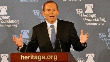 Speaking out ... Tony Abbott.
