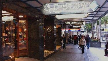 Darrell Lea's quaint Brisbane Arcade store.