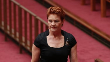Senator Pauline Hanson changed her position on the Greens motion, voting in favour of it this time.