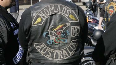 Clashing colours ... the police believe a turf war between the Nomads and the Hells Angels is behind Sydney's latest drive-by shootings.