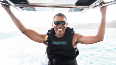 Former President Barack Obama during his Caribbean holiday.