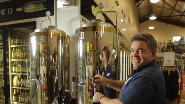 Too much red tape ... Mark Mead, of Warners at the Bay, offers craft beers in refillable vessels.