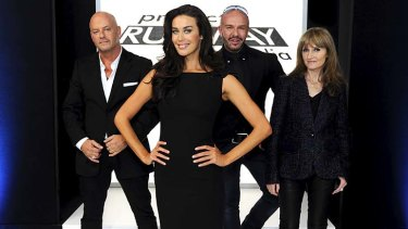 Nicy try ... Peter Morrissey, Megan Gale, Alex Perry and Claudia Navone.