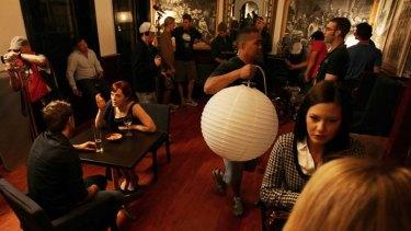 Parrawood beckons ... Crownies being filmed in a restaurant on Church Street, Parramatta.