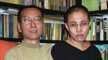 Liu Xiaobo and his wife Liu Xia.