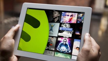 Spotify offers 16 million songs under a 'freemium' model.
