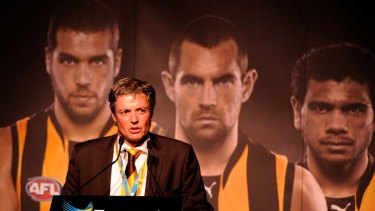 Hawthorn president Andrew Newbold before the Round one match between the Hawks and Collingwood.