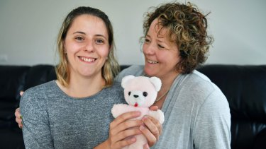 (left to right) Louise Pallot with her mother Therese Scalzo. Louise was a prem baby born at 26 weeks.