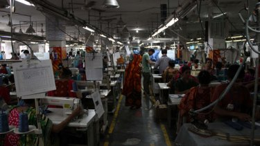 Workers at Stitchwell Designs: The factory has lost its contract with Kmart.