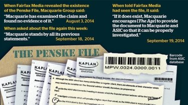 The existence of the file is believed to have been one of the triggers for an investigation into Macquarie.