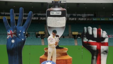 The Ashes celebration on Monday.