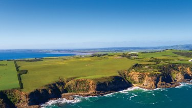 The 120 pristine hectares on the coastal cliffs of San Remo, at 140 Punch Bowl Road, bought by a Melbourne-based Chinese family.