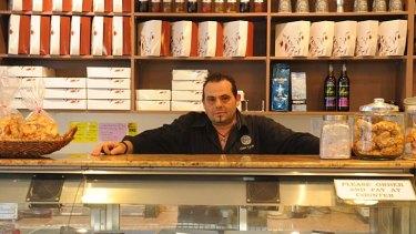 Steve Patsavouras at his cafe, Stathmos 109.