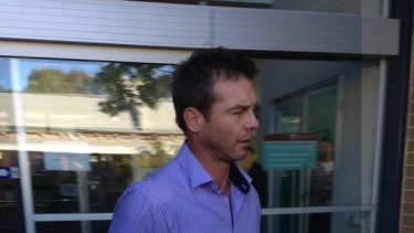 Ben Cousins at a previous court appearance.