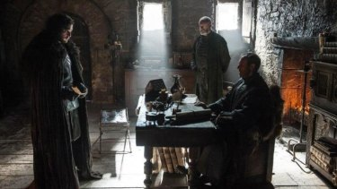 It's Lord Commander to you ... Stannis Baratheon and Jon Snow.