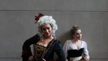 In costume: Elizabeth Berridge, left, and Christine Ebersole in costume for Salieri's The Chimney Sweep.