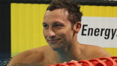 A brief comeback: Ian Thorpe during the 2012 Australian Olympic trails when he failed to make the team.