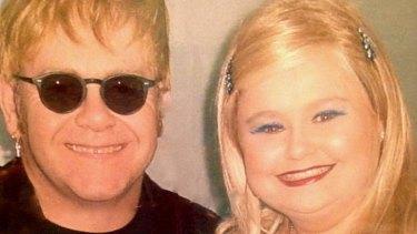 Elton John met Melbourne actor Lulu McClatchy during her comedy stints in London.