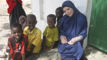 Imogen Bailey at a Mogadishu school in <i>Go Back To Where You Came From.</i>