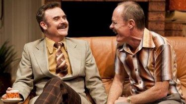 Bleak relations: Darren Gilshenan as Colin and Richard Sydenham as Paul in <i>Absent Friends</i>.