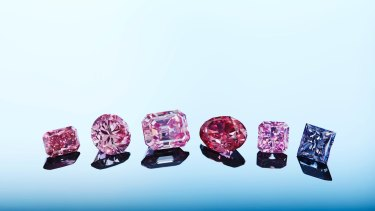 Rio Tinto has 63 rare pink and blue diamonds up for sale in 2018.