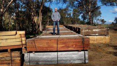 Timber! Nick Roberts of the Victorian National Parks Association slams the decision to use these sleepers from 'poorly managed' NSW forests.