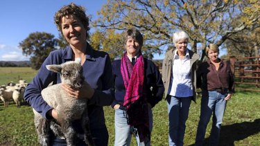 From left: Lamb farmers Anne Stelling, Ali Pockley, Jenny Anderson and Carol Togher.