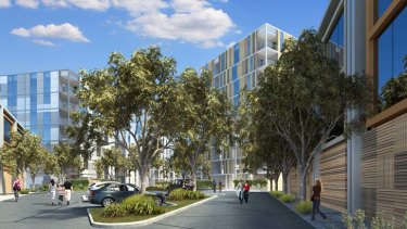 An artist's impression of the Orrong Road development
