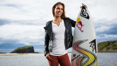 South coast local: Sally Fitzgibbons near home at Minnamurra.
