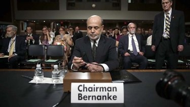 Face off ... Ben Bernanke stressed patience as to when to raise interest rates.