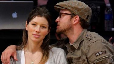 Split ... Justin Timberlake and Jessica Biel.