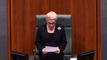 Speaker Bronwyn Bishop during question time on Thursday. Photo: Andrew Meares