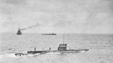 The AE1 off Rabaul. It was Australia's first naval loss of World War I.