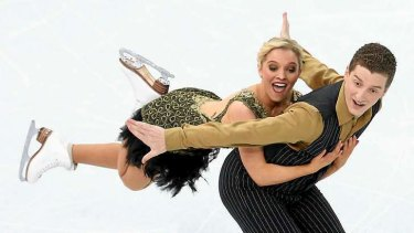 Season's best: Danielle O'Brien and Gregory Merriman of Australia compete during the Figure Skating Ice Dance Short Dance.