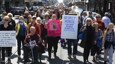 Enough is enough: Thousands of protesters march along Sydney Road